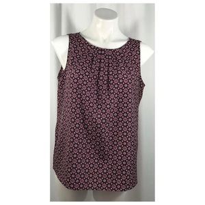 Ann Taylor Loft Top Sleeveless Purple Blouse